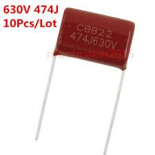 10Pcs CBB CBB22 Capacitor 474J 630V 0.47UF 470NF P=15mm