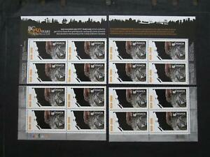 Canada mint nh set of 4 plate blocks #2283 British columbia map of BC for Gold