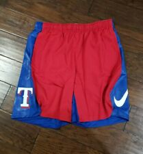 NIKE MENS MLB TEXAS RANGERS BATTING PRACTICE SHORTS Size Large BRAND NEW