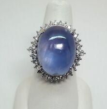 GIA Sapphire & Diamond ring - r9344