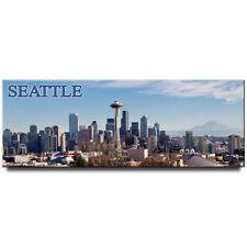 Seattle Skyline panoramic fridge magnet Washington travel souvenir