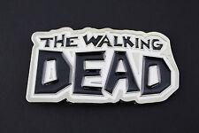 THE WALKING DEAD METAL BELT BUCKLE COMIC BOOK  AMC WHITE BLACK