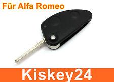 2tasten coche llave plegable carcasa Bruta Para Alfa Romeo 147 TS GT 156 JTD