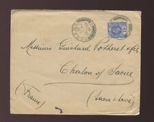 MALAYA STRAITS SETTLEMENTS to FRANCE 1920 KG5 SINGLE FRANKING 10c PENANG