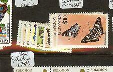 GUYANA (B1801) BUTTERFLY SC279-89A  MOG