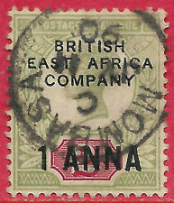 KUT GB stamps otpted British East Africa Company 1890 1a on 2d QV sg 2 used