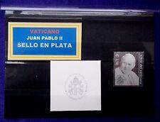 VATICANO 2003 1308 JUAN PABLO II  SELLO DE PLATA CON FUNDA