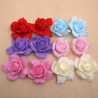"100pcs 7"" Real Touch 3D Artificial DIY Foam Rose Flower Head For Decoration Home"