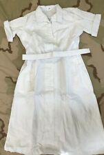 US MILITARY WHITE NURSE DRESS HOSPITAL DUTY UNIFORM NSN 8410-00-177-3660 SZ 10 S