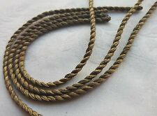 A Lot of 4 Antique Gold Metallic Rope Cords Dark Light Bronze/Gold Patina French
