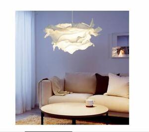1,2 IKEA NEW KRUSNING Pendant Lamp Shade White Paper 85cm 502.599.21