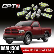 OPT7 10pc Interior LED Light Bulbs Package Kit for 02-11 Dodge Ram 1500-3500
