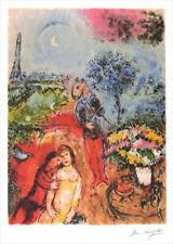 Marc CHAGALL Serenade Facsimile Signed Litho Print 35 x 24-1/2