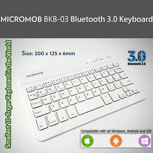 MICROMOB BKB-03 Bluetooth 3.0 mobile keyboard for Windows, Android and iOS