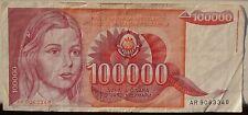 JUGOSLAVIA 100000 Dinara 1989