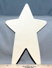 "Large Primitive Folk Art Star 6-3/16"" New Unfinished Wood Craft Made in USA"