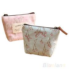 Women's Lady Small Canvas Purse Zip Wallet Coin Key Holder Case Bag Handbag @TA+