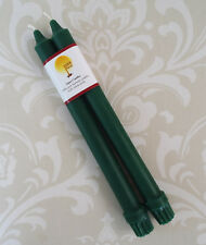 Handmade 100% Beeswax Candles - Colonial Taper Pair - Green
