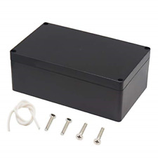 Waterproof Plastic Project Box ABS Electrical Junction box Enclosure Black