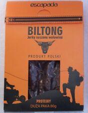 BEEF JERKY, BILTONG, SUSZONA WOŁOWINA, 80 gram, smak oryginal