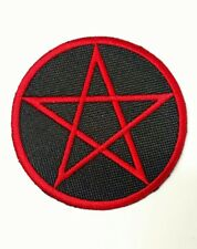 Pentagram Patch Embroidered Iron/sew QUALITY Occult Symbol Wiccan Pagan Witch