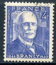 STAMP /  TIMBRE FRANCE OBLITERE N° 599 PHYSICIEN EDOUARD BRANLY