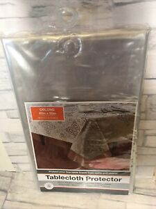 """60"""" x 90"""" Clear Vinyl Tablecloth Durable Plastic Table Cover Protector of Spills"""