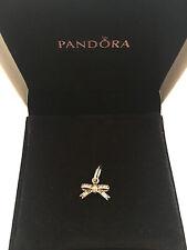 Pandora Sterling Silver Sparkling Delicate Bow Pendant S925 Ale 390357CZ