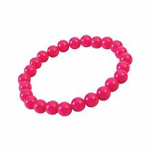 Pop Art Pearl Bracelet Hot Pink, Fancy Dress Party Costume Accessory #US