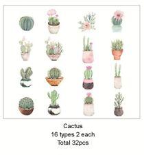 32 pcs Japan Washi Paper Die Cut Stickers - Cactus ST292