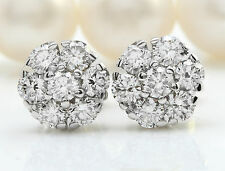 1.00CTW Natural SI1 / G-H Diamonds in 14K Solid White Gold Stud Earrings