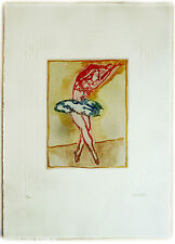 Nastasio Alessandro (Milano,1934)-Ballerina I -Acquaforte- Edizioni Grafica Uno