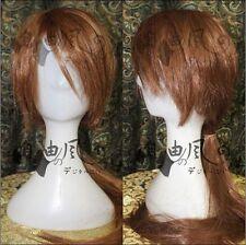 Rurouni Kenshin Himura Kenshin cosplay Anime light brown Cosplay Wig
