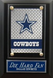 DIE HARD FAN DALLAS COWBOYS LOGO CARD PLAQUE WITH EASEL FOR YOUR MAN CAVE WALL