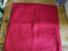 """Pottery Barn """"Red Stitch w/Blue Stitch Edge"""" Quilted Euro Pillow Sham"""