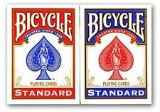 2packs Bicycle Playing Cards Decks Back  1 Red & 1 Blue Casino Poker Snap Game