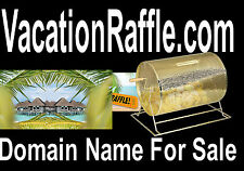 Vacation Raffle .com Travel Domain Name For Sale Golf Food Hotel Rooms Win Lucky