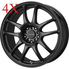 Drag Wheels DR-31 17x8 5x100 5x114 +47 Flat Black Rims For Lancer Celica Rsx GTS