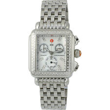 NEW Authentic Michele Deco Diamond Signature MOP Dial MWW06P000099 Ladies Watch
