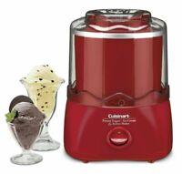 New In Box Cuisinart ICE-21R Ice Cream Frozen Yogurt & Sorbet Maker : Bright Red
