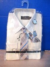 VITTORINO~Off White Long Sleeve DRESS SHIRT & MATCHING TIE~Boys 18H~NEW
