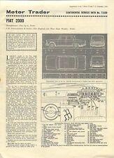 Fiat 2300 Motor Trader Service Data No. 7/CSD 1963