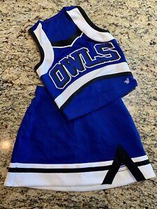 Genuine Cheerleading Girls Varsity Spirit Uniform OWLS Blue White Black NEW!