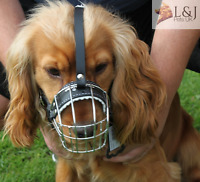 New Metal STRONG Wire Basket Dog Muzzle for Cocker Spaniel  3 - 3X
