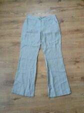 Flared Polyester Regular Size 32L Trousers for Women