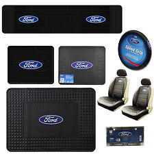 2003-2011 Connected Essentials 5027270 Tailored Heavy Duty Custom Fit Car Mats Ford C Max Black with Blue Trim
