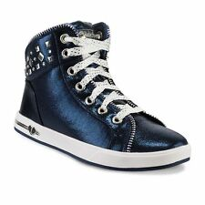 GIRL'S SKECHERS SHOUTOUTS ZIPSTERS* HIGH TOP SNEAKERS COLOR~NAVY SIZE 12 M