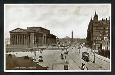 C1920s View of Horse-Drawn Transport & Trolley Bus, Lime Street, Liverpool
