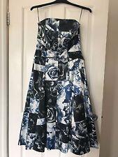 VERONIKA MAINE STRAPLESS DRESS SIZE 12 LIKE NEW!! PARTY PROM COCKTAIL WEDDING