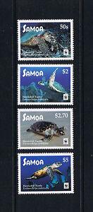 2016 Samoa WWF Hawksbill Turtle Postage Stamp Set